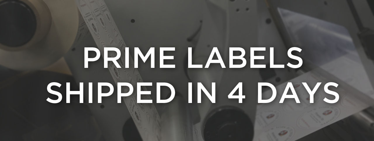Prime Labels Shipped in 4 Days with ReadyLabel